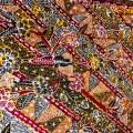 バティック・クロス(バティック・トゥリス(手描きバティック)/バティックプカロンガン/花と幾何学模様)BT181
