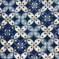 バティック・クロス(バティックチャップ(型押し染め)/バティックプカロンガン/カウォン模様/濃紺・水色)BT191