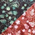 バティック・クロス(ジャワ更紗 バティック・チャップ/型押し染めバティック ぶどう柄 2種類 茶色/濃紺)BT193