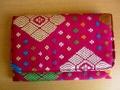 ソンケット(浮き織り)製 二つ折り財布A(ピンク)SK010