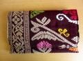 ソンケット(浮き織り)製 二つ折り財布B(ダークレッド)SK011