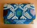 ソンケット(浮き織り)製 二つ折り財布D(ターコイズブルー)SK013