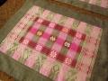 バリ島のソンケット(浮き織り)製ランチョンマット(ピンク&グレー)SK009