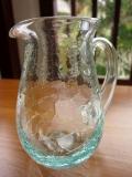 バリガラス製ピッチャー(Sサイズ、クラックル)GS012