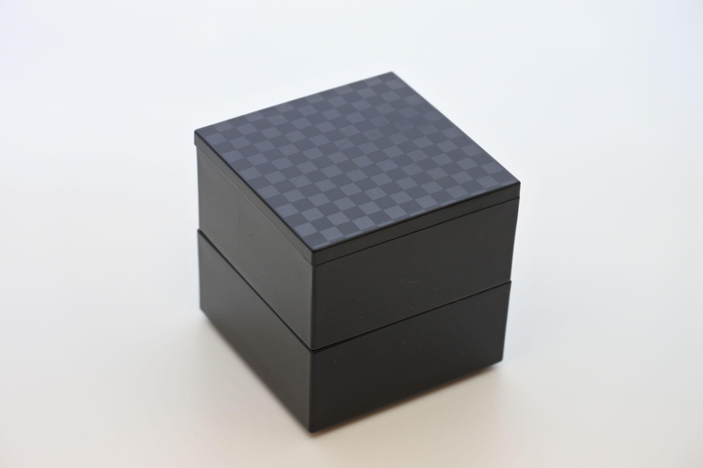 《新商品》JUBAKO/重箱/チェス2.3二段中子重(黒)(A)KZ2976A≪Kaze-ya style≫