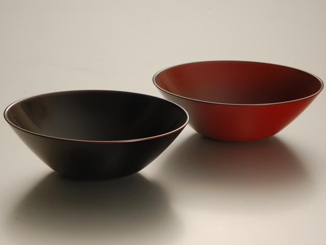 手塗うるしペア6.3盛鉢(溜・朱)<新商品>