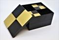 ≪新商品≫JUBAKO/重箱/市松GOLD6.5二段オードブル重(黒)中子付≪Kaze-ya style≫ KZ2981A