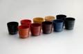 ≪新商品≫カップ/手塗うるしペア焼酎カップ(あさぎ)(1)〈手塗うるし〉