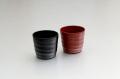 ≪新商品≫カップ/手塗うるしペア焼酎カップ(黒・朱)(2)〈手塗うるし〉