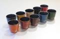 ≪アウトレット≫30%OFF/手塗うるしカップ(カラー漆・メタリック)(各1)