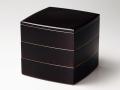 モダンな重箱:溜渕金6.5胴張三段重