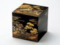 モダンな重箱:山水蒔絵6.5三段重(黒)