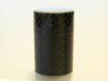 チェス茶筒(黒)スリム<新商品>