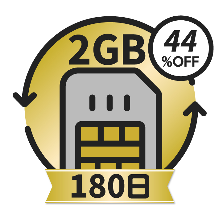KAZUNA eTalk5 グローバル通信チャージ <2GB/180日>
