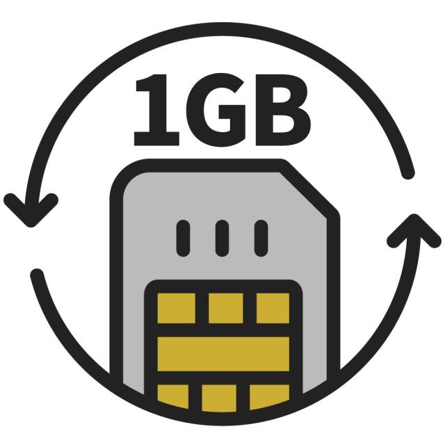 KAZUNA eTalk5 グローバル通信チャージ<1GB/30日>
