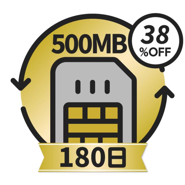KAZUNA eTalk5 グローバル通信チャージ<500MB/180日>