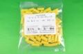 チューブ色無地カット品5.1×15mm黄