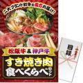 【パネもく!】松阪牛&神戸牛 すき焼き肉食べくらべセット(A3パネル付)[当日出荷可]