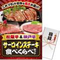 【パネもく!】松阪牛&神戸牛 サーロインステーキ食べくらべセット(A3パネル付)