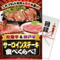 【パネもく!】松阪牛&神戸牛 サーロインステーキ食べくらべセット(A4パネル付)[当日出荷可]