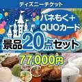 【参加賞向けQUOカード付】ディズニーチケット20点セット[送料無料]