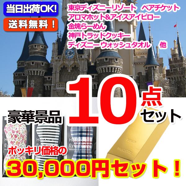 30000円ポッキリ!ディズニーペアチケット景品パネル&現品10点セットA(15420)
