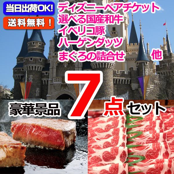 東京ディズニーリゾートペアチケット&選べる国産和牛&イベリコ豚他豪華7点セット (15047)