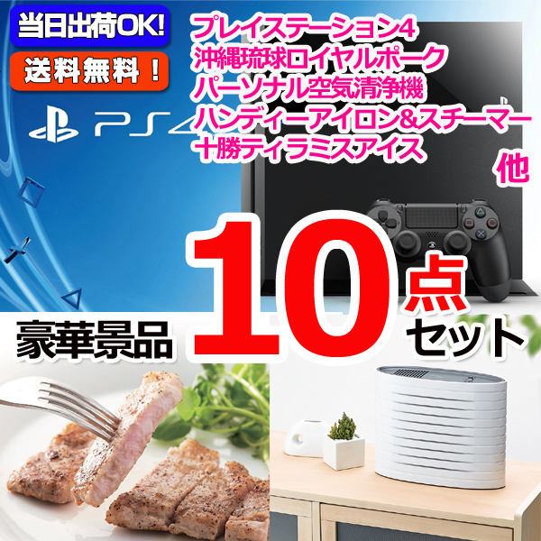 プレイステーション4&沖縄三元豚&フットマッサージャ他豪華10点セット (15125)