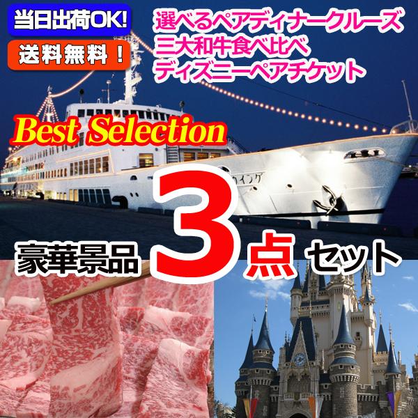 ベストセレクション!選べるディナークルーズ&選べる日帰り温泉&東京ディズニーリゾートペアチケット豪華3点セット