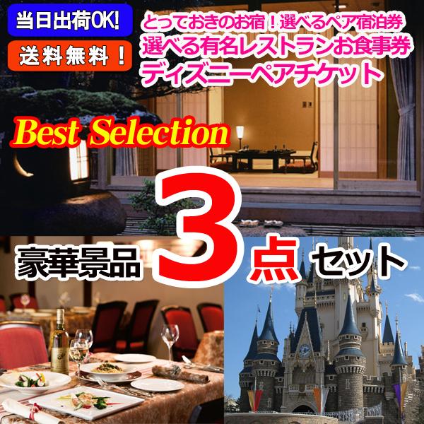 ベストセレクション!選べるペア宿泊券&選べるレストラン&東京ディズニーリゾートペアチケット豪華3点セット