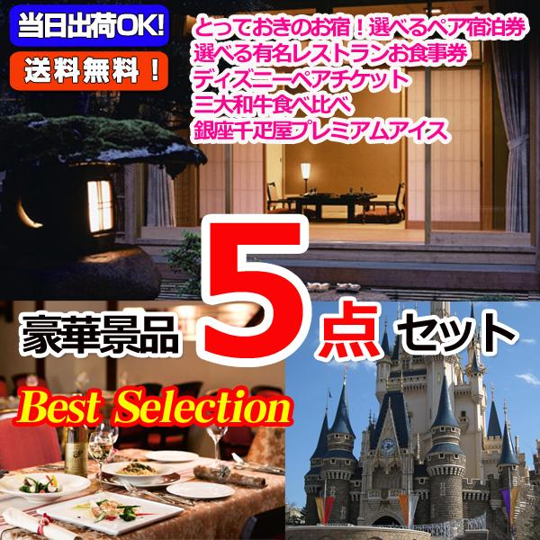ベストセレクション!選べるペア宿泊券&選べるレストラン&東京ディズニーリゾートペアチケット他豪華5点セット (15173)