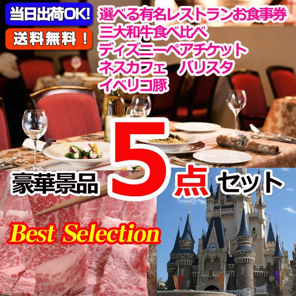 ベストセレクション!選べるレストラン&選べる日帰り温泉&東京ディズニーリゾートペアチケット他豪華5点セット (15175)