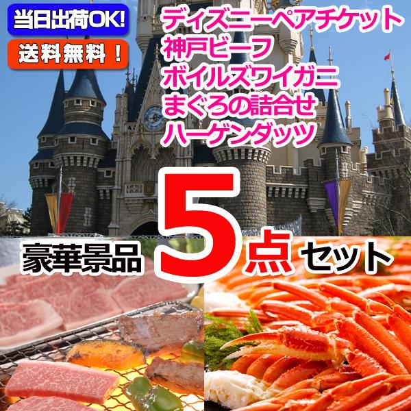 東京ディズニーリゾートペアチケット&神戸ビーフ&ズワイガニ他豪華5点セット  (15232)