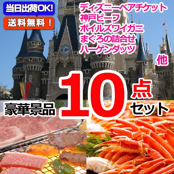 東京ディズニーリゾートペアチケット&神戸ビーフ&ズワイガニ他豪華10点セット  (15235)