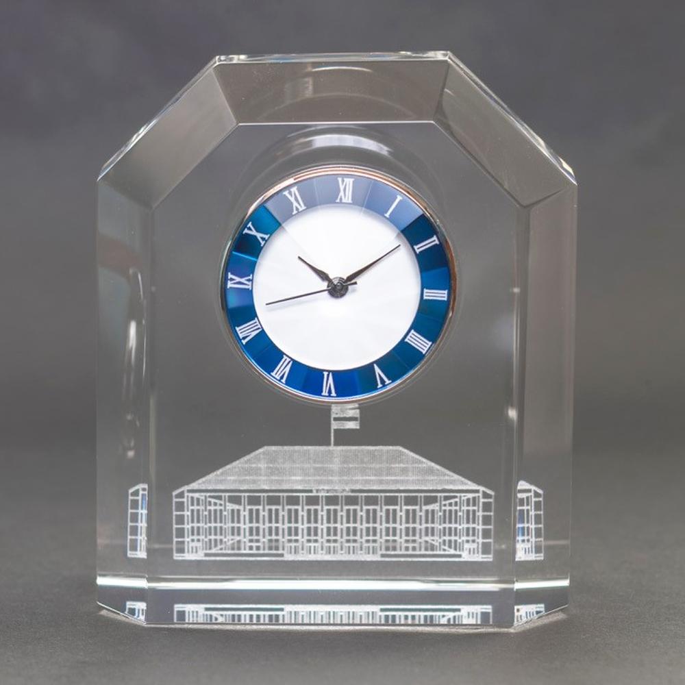 クリスタルガラス置時計