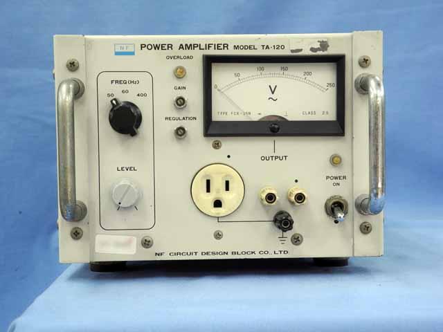 中古 エヌエフ回路設計ブロック 電力増幅器 TA-120 (管理番号:UKK-09483)