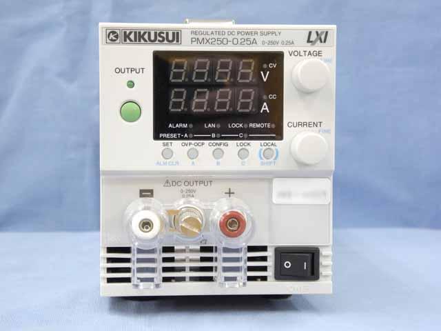 中古 菊水電子工業 直流安定化電源 PMX250-0.25A (200V入力仕様) (管理番号:UKK-10559)