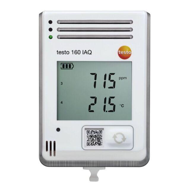 testo 温度、湿度、CO2、大気圧センサ内臓 wi-fiデータロガー testo 160 IAQ [0572 2014]