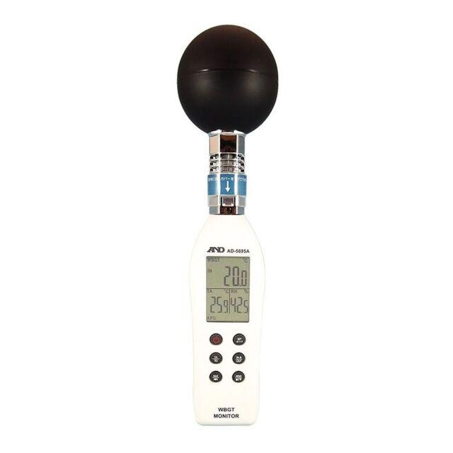 エーアンドディ 黒球形 熱中症指数計 / 熱中症指数モニター AD-5695A