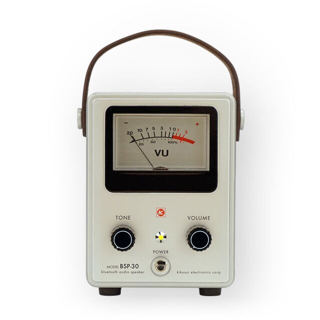 菊水電子工業 昭和レトロ計測器型 Bluetoothスピーカー バルボルタイプBSP-30