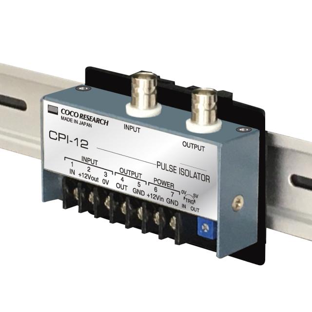 ココリサーチ CPI-12-DN1-2 BNCコネクタ付パルスアイソレータ(絶縁型信号変換器)12V仕様