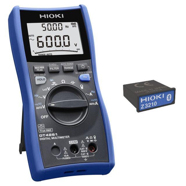 HIOKI デジタルマルチメータ ワイヤレスアダプタ付属 DT4261-90