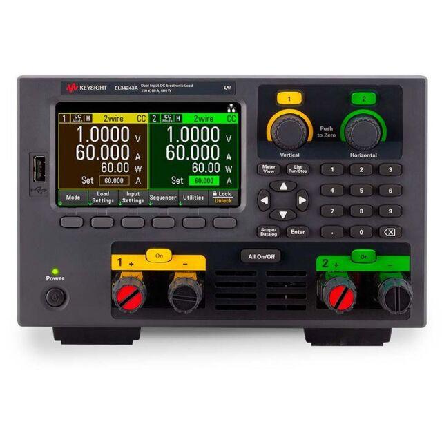 【お問合せ商品】 Keysight DC電子負荷 EL34243A 600W デュアル入力、ベンチトップ 電子負荷、150V、60A
