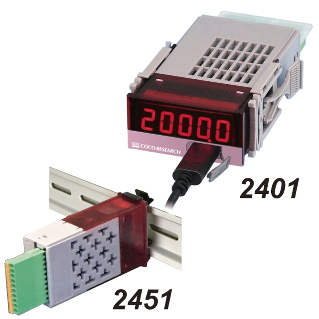 ココリサーチ RRL-2451 抵抗計 DINレール取付タイプ(表示器なし)コンパレータ出力2点