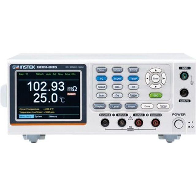TEXIO GW INSTEK DCミリオームメータ(ドライ回路測定機能付き) GOM-805