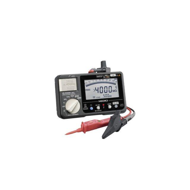 HIOKI 絶縁抵抗計 スイッチ付きリード付属 別売ワイヤレスアダプタ対応 IR4052-51