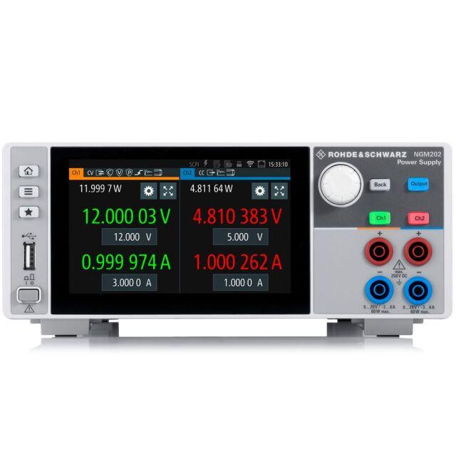 【お問合せ商品】 R&S NGM202直流電源 2チャネル特別パッケージ NGM-COM2B (3638.4472P87)