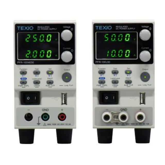 TEXIO 100Wワイドレンジ直流安定化電源 PFR-100M250