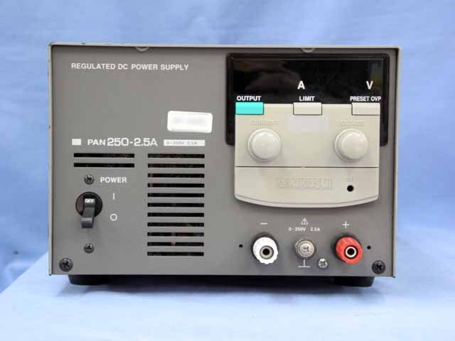 中古 菊水電子工業 直流安定化電源 PAN250-2.5A (管理番号:UKK-04062)