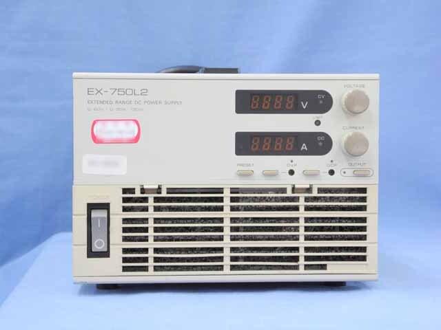 中古 高砂製作所 直流安定化電源 EX-750L2  (管理番号:UKK-08067)